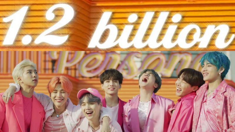 BTS防彈少年團第二支突破12億觀看次數的MV出現了!《Boy With Luv》發行僅2年便上榜