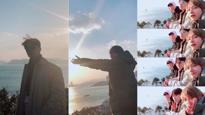摄影师是「东万&泰泰」,朴叙俊、朴炯植和V温馨友情照再吸引大家视线!