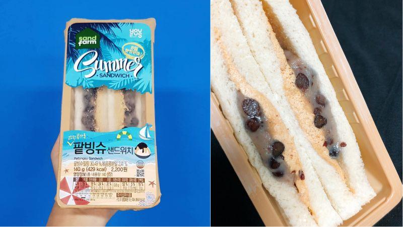 GS25推出夏季限定款!冰凉清爽的「红豆冰三明治」,完全适合炎热的夏天!