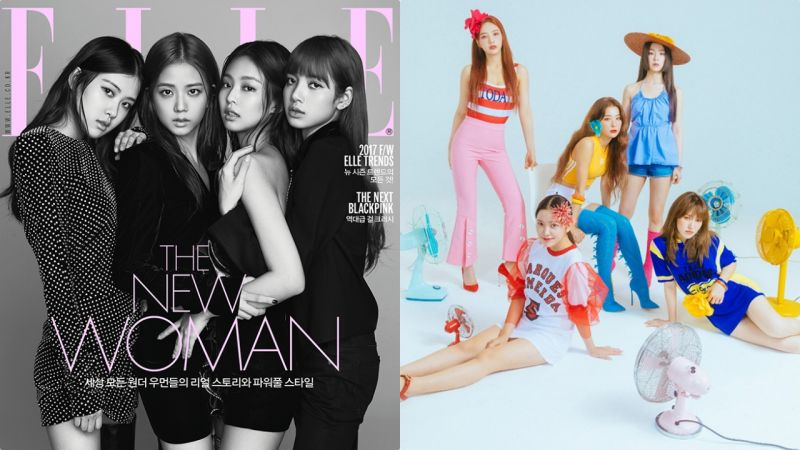 腦洞大開!當Red Velvet+BLACKPINK變成BLACK VELVET,概念照毫無違和感啊~