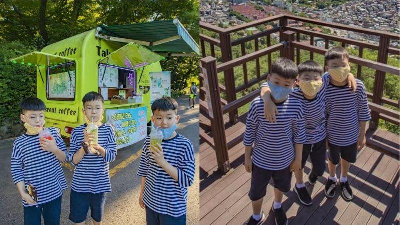 宋一國公開「三胞胎」近況照!還分享剪頭髮趣事:「大韓要求剪得帥、民國要求前額中間不要剪、萬歲要剪成方形的」