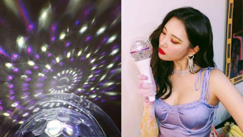 「超Fashion」宣美的應援棒!有四種亮燈模式、中間的球還可以轉動,網友:「不是粉絲都想擁有!」