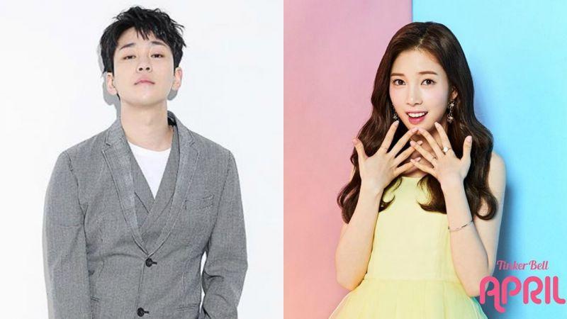DinDin和APRIL尹彩暻被爆戀愛? 雙方否認:只是親近的前後輩關係