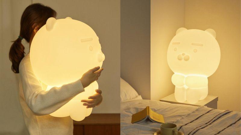 最近Kakao Friends新产品都是「超大」系列啊!继150公分玩偶之后,又推出超大Ryan夜灯!