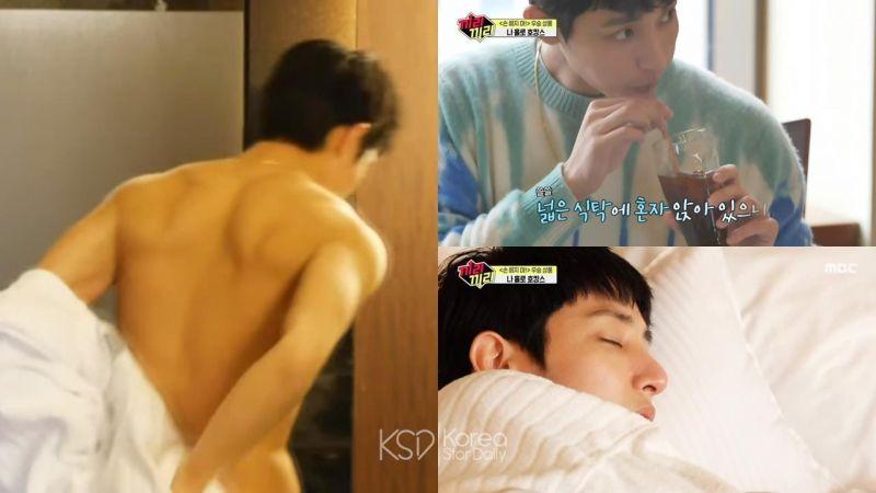 「雕刻美男」李洙赫脫浴袍大曬背肌、人魚線,一秒就讓綜藝變成韓劇的帥氣場面!