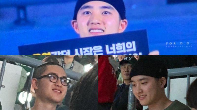 适逢周末…休假的D.O.昨晚(29日)出现在EXO演唱会上!满脸笑容让粉丝们直呼可爱