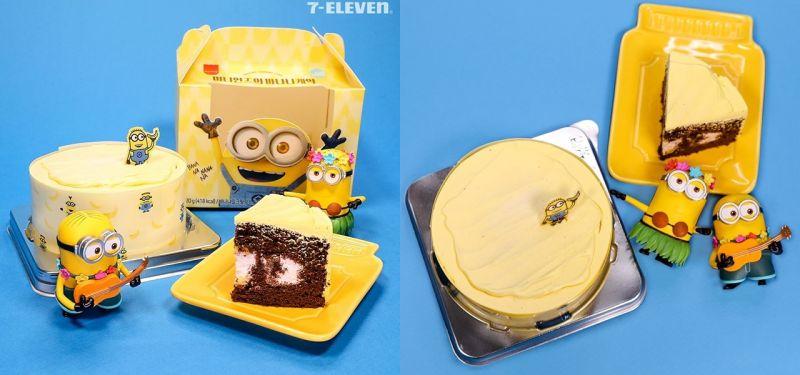 韓國7-11推出『小小兵香蕉巧克力蛋糕』