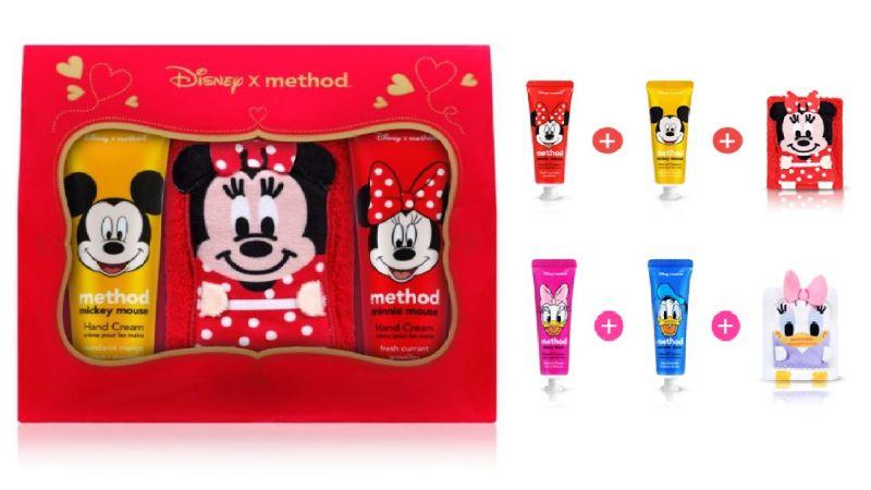 情人節限定 超可愛『迪士尼雙情侶護手霜+小方巾組』