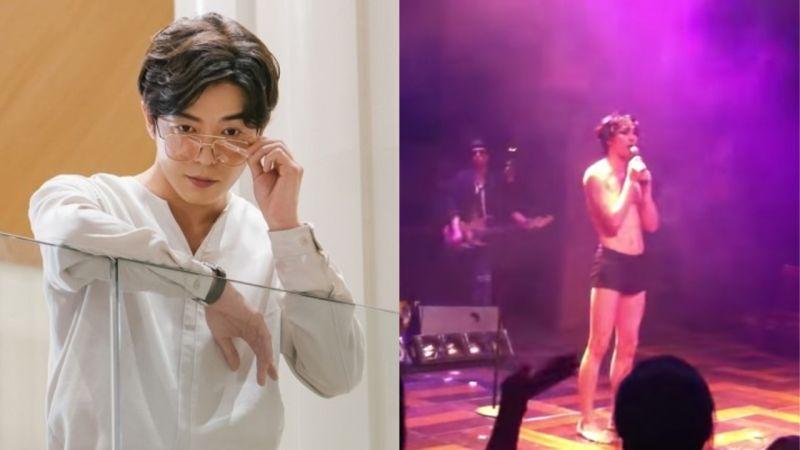 超敬業!金材昱為了舞台造型和劇情需求「只穿內褲」在舞台上唱歌!網友:「好害羞~」