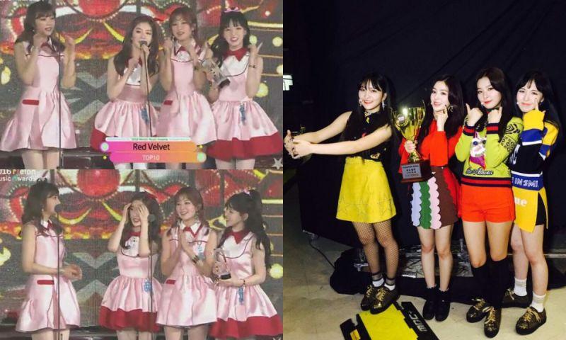 超暖的Red Velvet! 無論哪位成員缺席都會在合影時留出空位