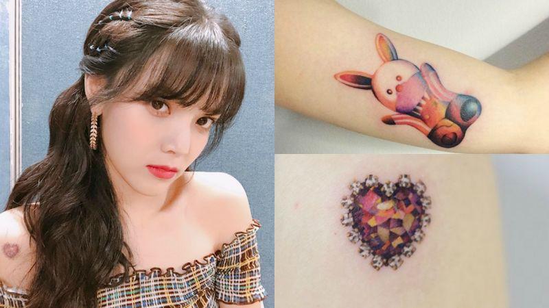 荷包蛋、漢堡、兔子... AOA智珉身上的彩色紋身都超可愛!