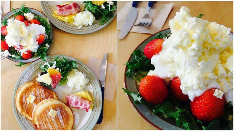 【弘大必吃】弘大超人气早午餐店,季节限定蜂蜜草莓起司优格超推荐~