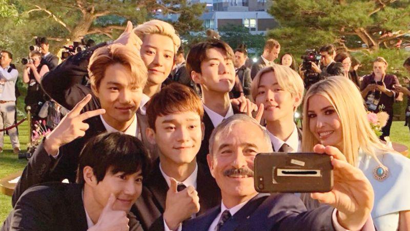 國家的PICK!EXO出席青瓦台國宴,送給川普女兒親筆簽名專輯!
