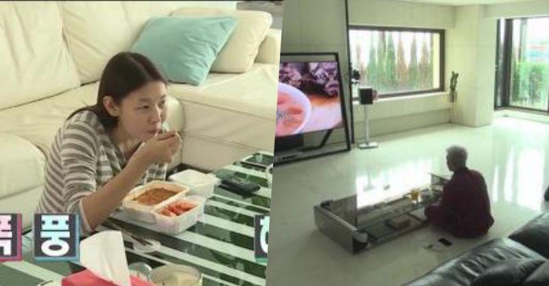 韩国人独特的沙发使用方法! 不管怎样就是不肯坐在上面XD