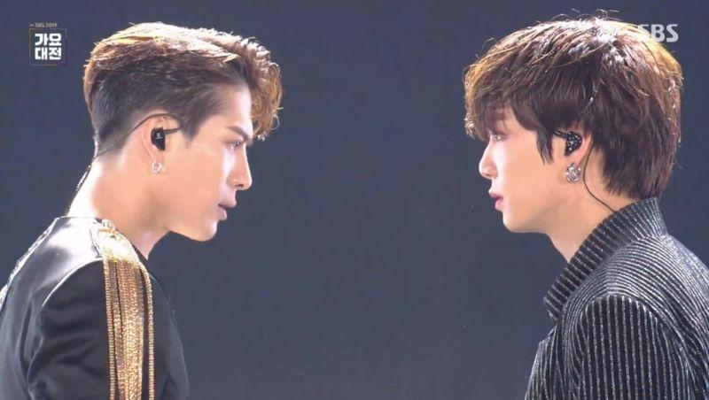 【2019 SBS歌謠大戰】GOT7 Jackson帥不過三秒!與NU'EST JR合作舞台最後一秒破功:弟弟,我真的不是故意的XD