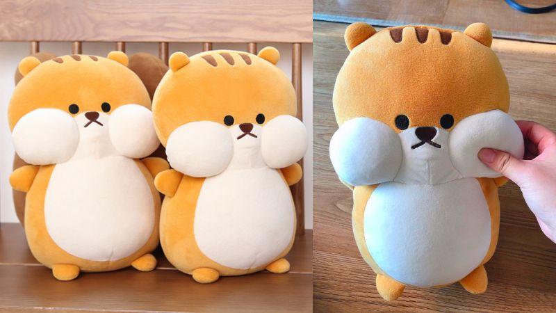 混入DAISO秋季新品的萌貨「松鼠抱枕」,好想掐一掐它的臉蛋!
