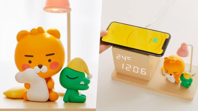 Kakao Friends新品床頭鐘!兼職溫度計&小夜燈&無線充電等超多功能