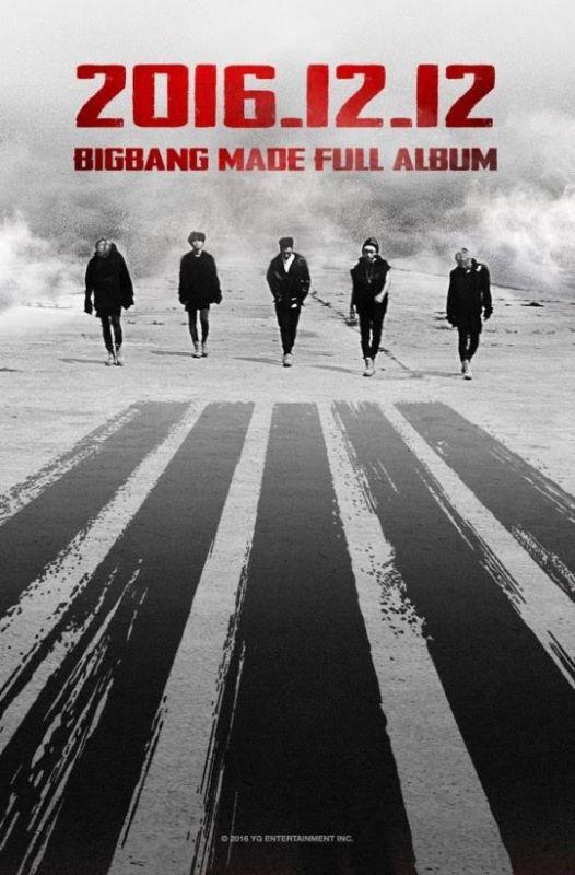 BigBang敲定12月12日回歸 明年一月首爾開唱最終場