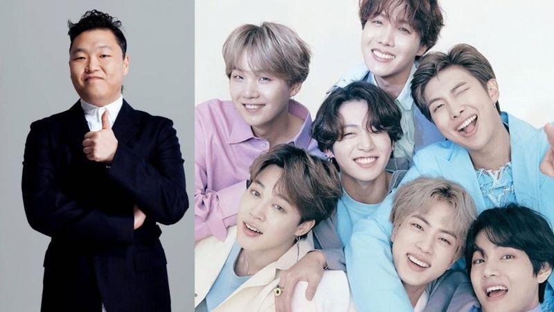 大前辈 PSY 发文祝贺 BTS 防弹少年团登上美国 Billboard 百大第四位