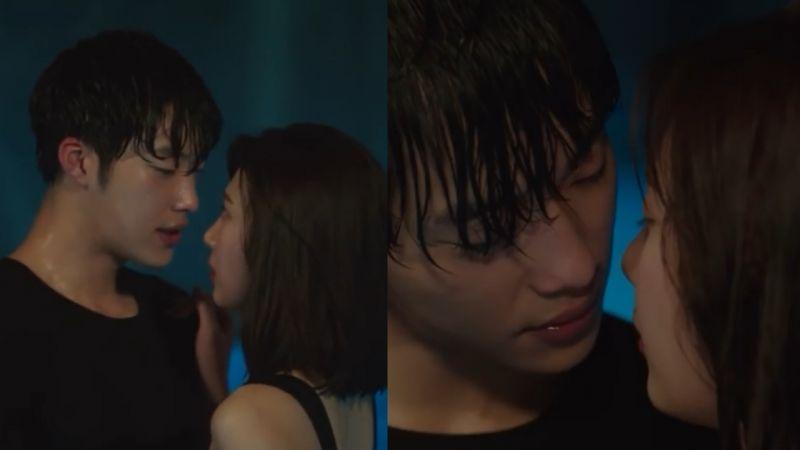 《伟大的诱惑者》禹棹焕和Joy在泳池亲密接触,看得脸红心跳~