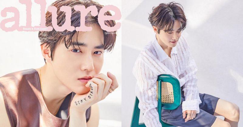 Suho 跃上《allure Korea》封面 谈 EXO 成员「感觉都已经融为一体了」