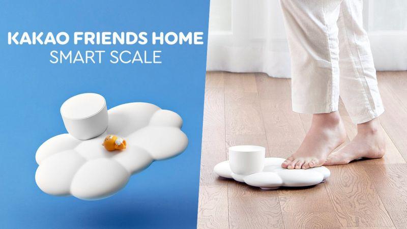 是云朵做成的吗?Kakao Friends智慧型体重计也太可爱了吧~~