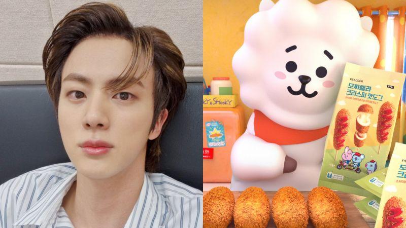 BTS防弹Jin创造的角色RJ拿到大型连锁超市的广告