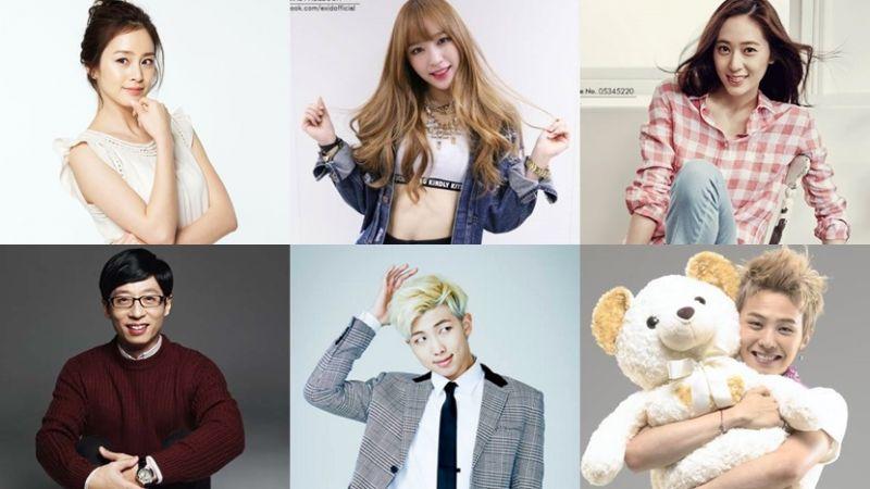 2016下半年最新票選「最想上哪位韓國明星的課呢?」結果出爐!!!