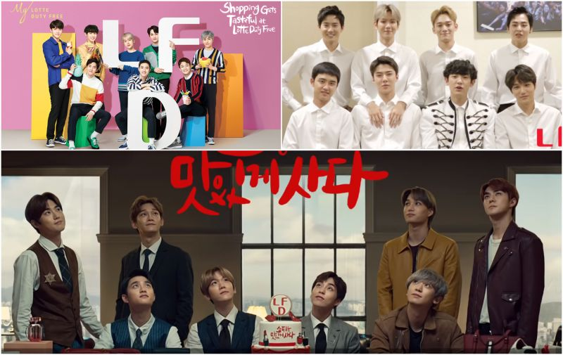 整支廣告都在YUM~YUM~YUM EXO新廣告有點可愛和搞笑喔!