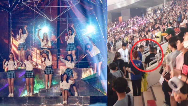 自家社長也沒有例外!朴軫永在TWICE演唱會拿出手機拍攝,被保全人員叫到一旁警告!