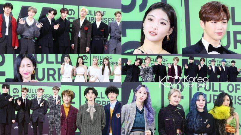 【多图】《2019MMA》红毯现场之歌手篇:BTS防弹少年团、MAMAMOO、姜丹尼尔、请夏等亮相