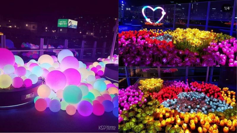 【首尔景点】星光闪烁的首尔路7017,夜晚就来这里散散步吧!