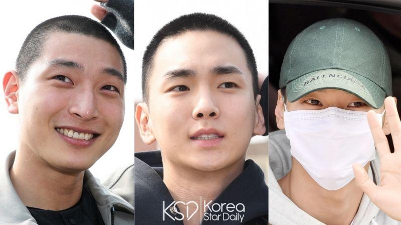【多圖】鄭珍雲、Key、N一起去當兵!來看看今日(3月4日)入伍現場