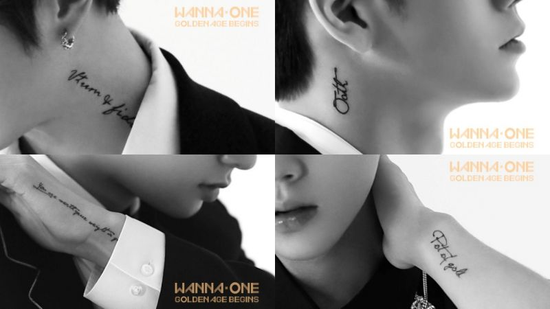 Wanna One預告照「刺青」內容全解碼!原來是講給Wannable的溫柔情話