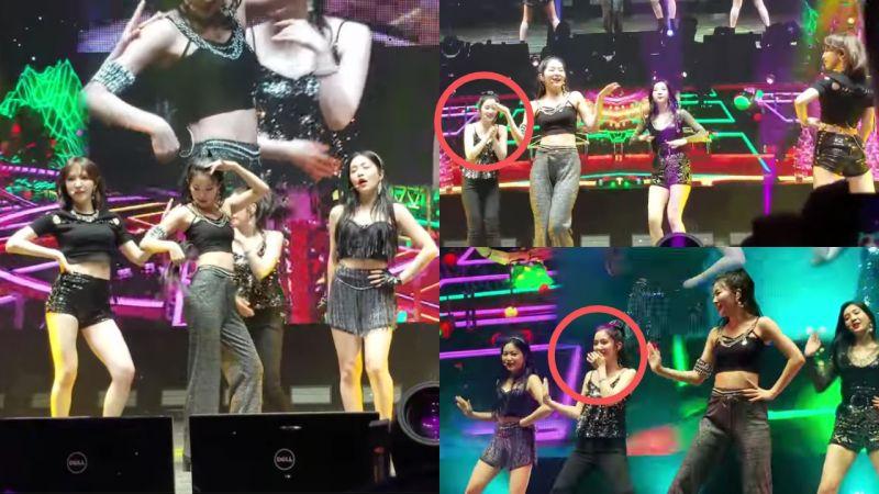 Red Velvet澀琪在舞台上髮片掉下來,她瀟灑往前方丟!結果...這讓Irene笑到停不下來啦!