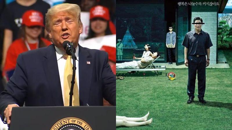 美国总统川普不满《寄生上流》夺奥斯卡最佳影片,片商嘲讽他根本是文盲!