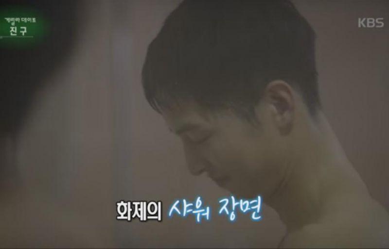 《太陽的後裔》劉時鎮和徐大英淋浴間的幕後故事