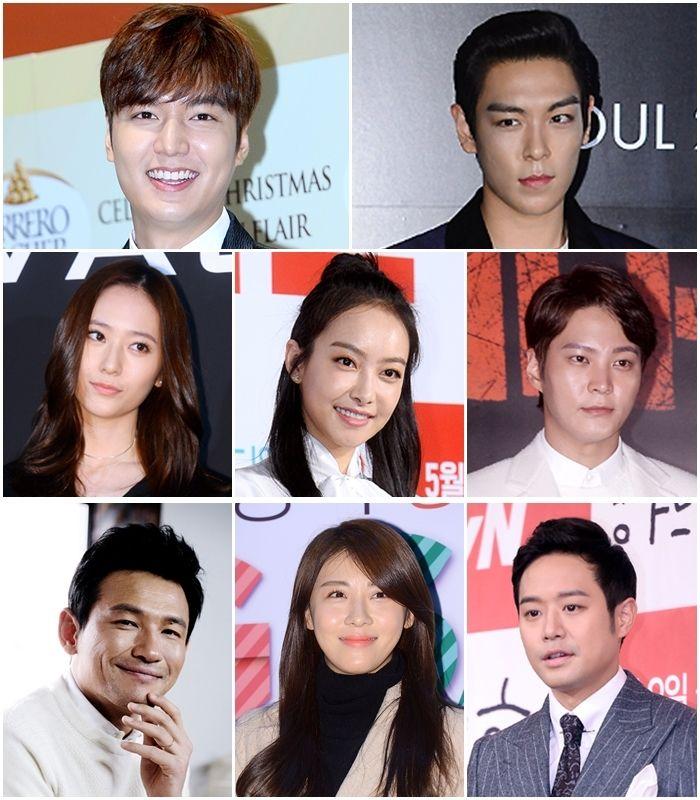 李敏鎬、河智苑、BIGBANG TOP 諸多韓星出席上海電影節開幕典禮