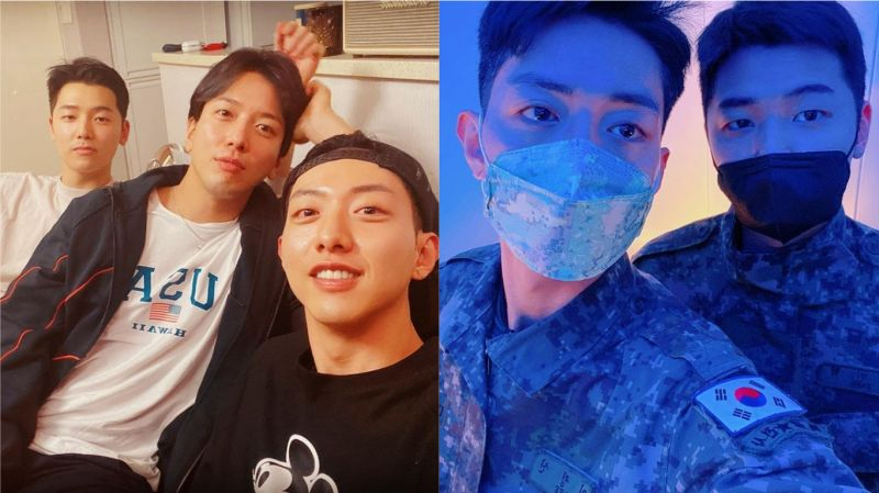 再4天就退伍啦!CNBLUE李正信通過個人SNS分享與鄭容和、姜敏赫合照