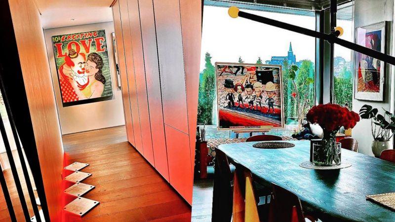 【多图】GD公开新家内景:各处摆满艺术品,氛围堪比画廊