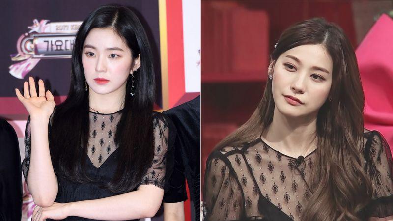 Red Velvet Irene VS劉仁英:同款蕾絲刺繡長裙
