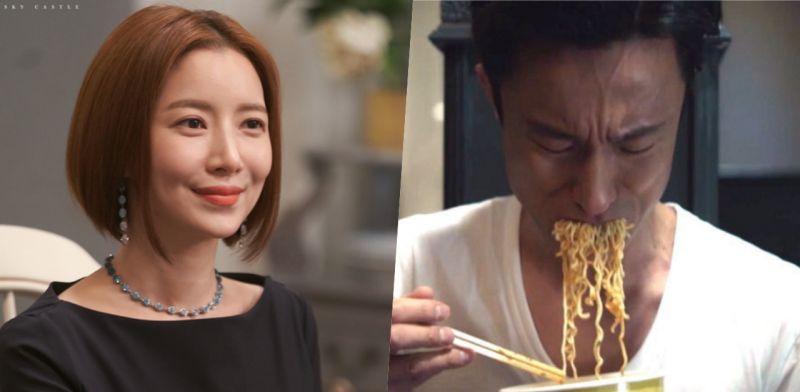 《SKY Castle》金炳哲&尹世雅因吃泡麵戲份接到泡麵廣告XD