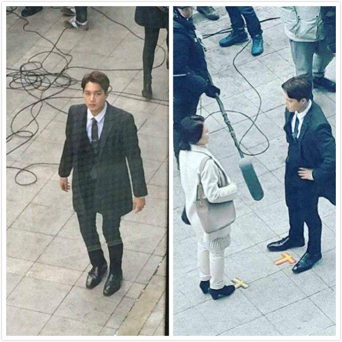 EXO KAI變身「金銀行」 網劇拍攝現場照曝光