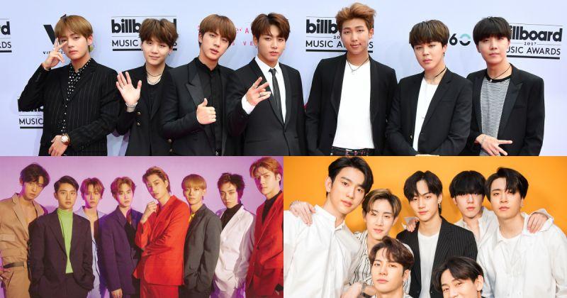 男团袭卷社群世界 EXO、BTS防弹少年团与 GOT7 角逐告示牌社群艺人奖!