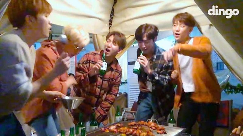 沒想到這首歌那麼適合在聚會時唱啊~!B1A4新歌《ROLLIN'》燒酒LIVE版