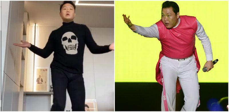 这是江南大叔PSY吗?泫雅:「您太瘦了,没作身材管理粉丝会伤心的呀!」