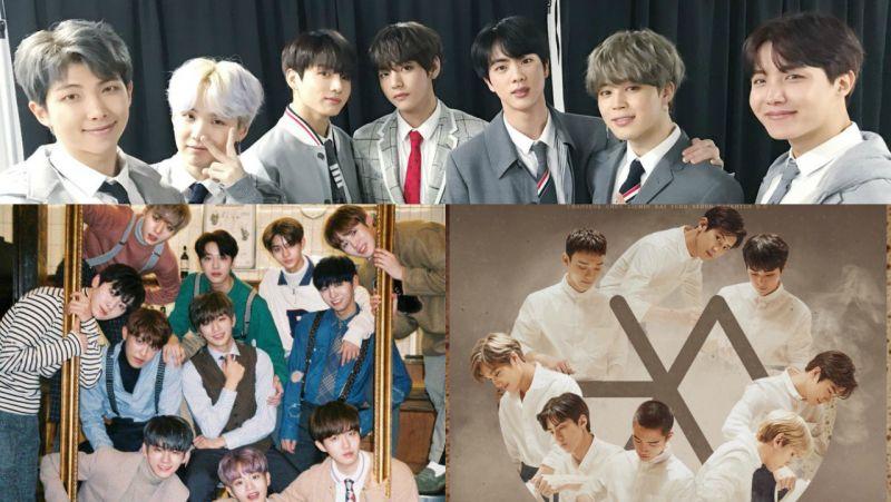 新的一年大勢仍是大勢 1 月男團品牌評價前三名出列:防彈少年團、Wanna One、EXO!