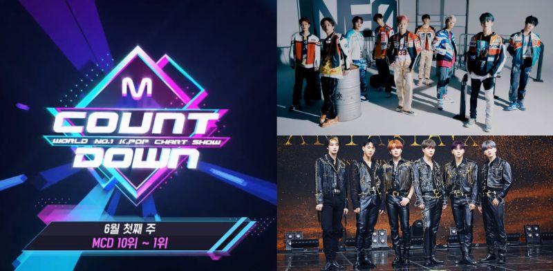 《M!COUNTDOWN》公開六月第1週TOP 10歌曲排行榜!你都聽過了嗎?