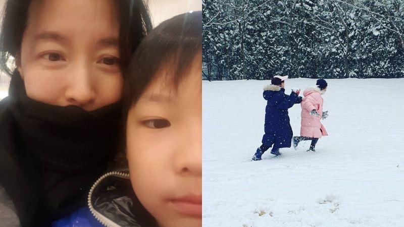 李英愛最新寫真帶龍鳳胎一起出鏡  小孩們已經長到這麼高了!