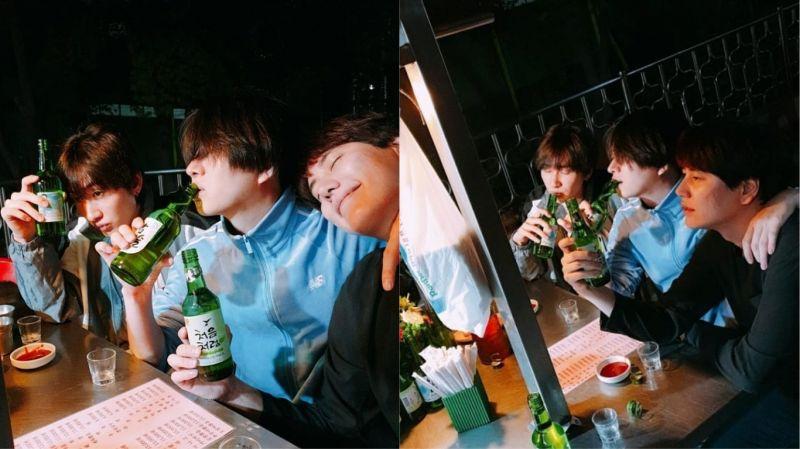 「确认过眼神…这是喝多了没错!」Super Junior希澈SNS更新与银赫、圭贤合照
